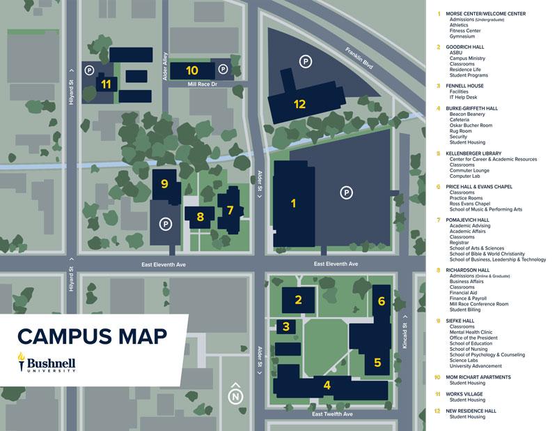 Bushnell Campus Map