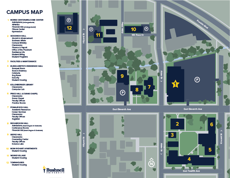 Bushnell Campus Map